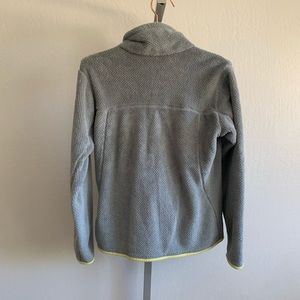 Patagonia Sweaters - Patagonia retool snap pullover fleece gray yellow